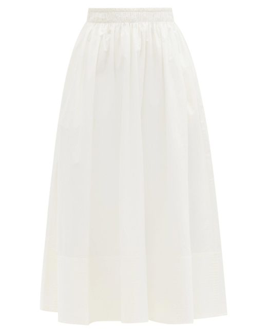 Jupe midi en popeline de coton Bellringer Toogood en coloris White
