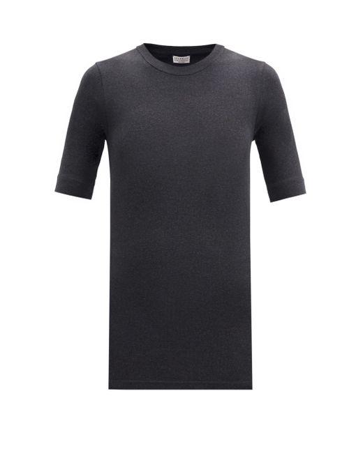 Brunello Cucinelli コットンブレンド リブtシャツ Multicolor