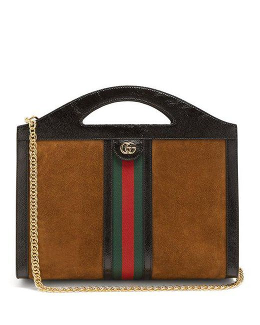 b08eb4d7f972 Gucci - Multicolor Ophidia Suede Shoulder Bag - Lyst ...