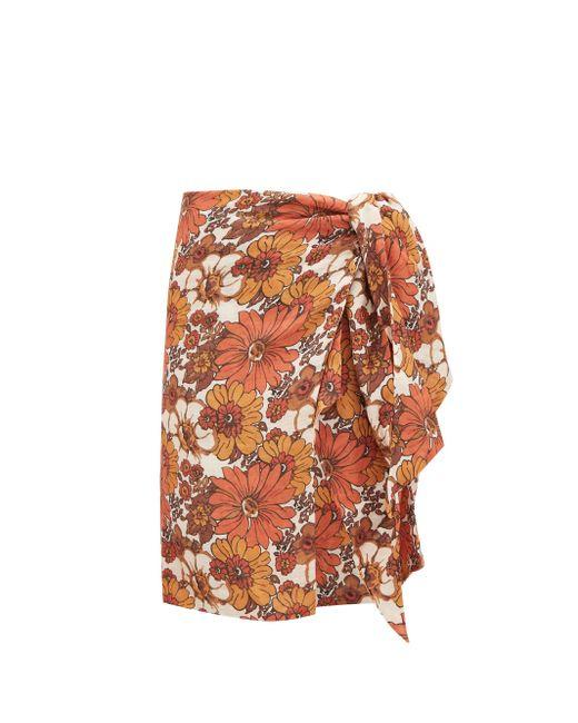 Dodo Bar Or モサ タイフロント フローラル コットンスカート Multicolor