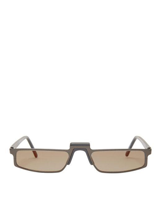Andy Wolf Black Muhren Rectangle Acetate Sunglasses
