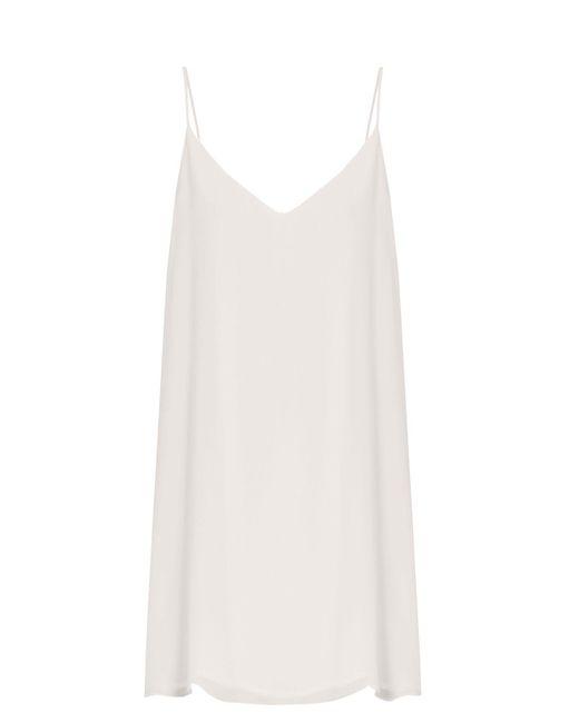 Raey - White Deep-v Silk Slip Dress - Lyst