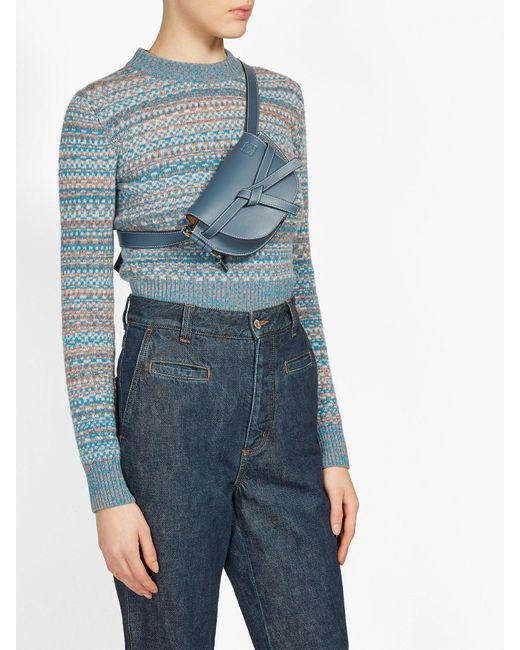 4bba41efe0f Women's Blue Gate Small Leather Belt Bag