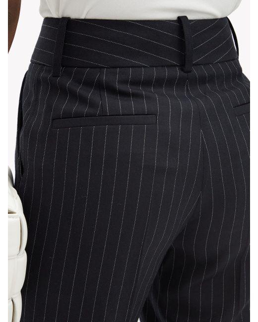 Victoria Beckham ピンストライプ ハイライズ ウールパンツ Multicolor