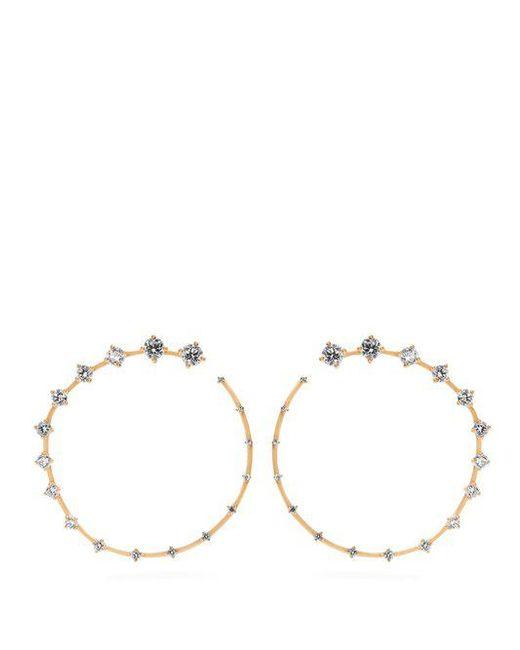 Fernando Jorge - Metallic Circle Large 18kt Gold & Diamond Earrings - Lyst