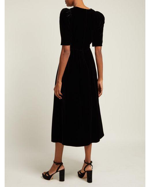 72b8fd2ae ... Gucci - Black Velvet Dress - Lyst ...