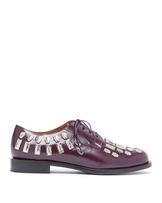 SAMUELE FAILLI - Multicolor Maya Hammered Metal Appliqué Derby Shoes - Lyst