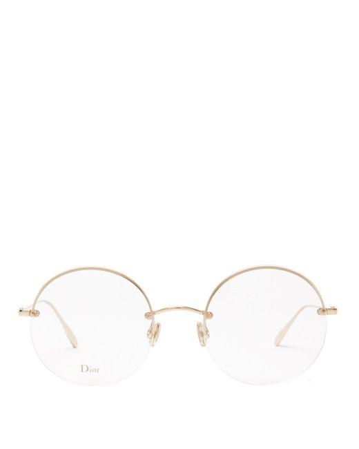 Dior Stellaire ラウンド メガネ Natural