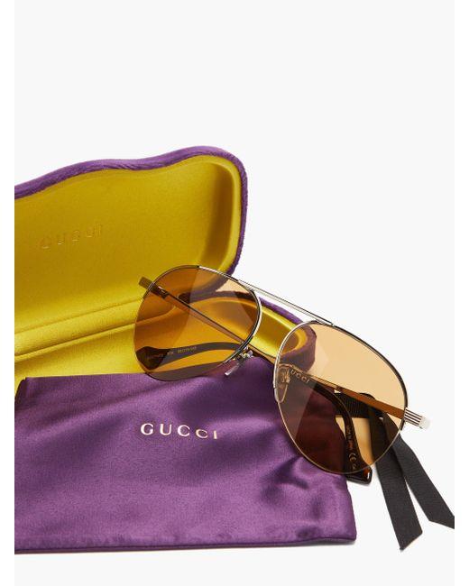 Gucci アビエイター サングラス Multicolor
