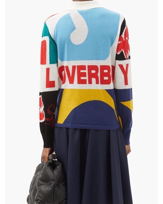 CHARLES JEFFREY LOVERBOY ウールラグビーシャツ Blue