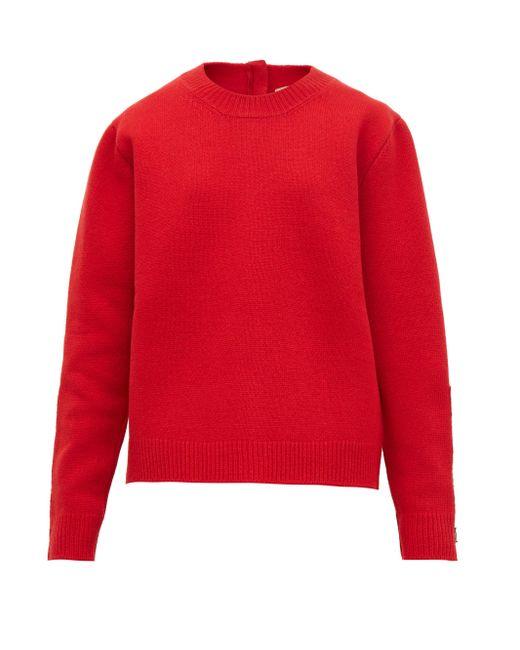 N°21 クリスタル ウールブレンドセーター Red