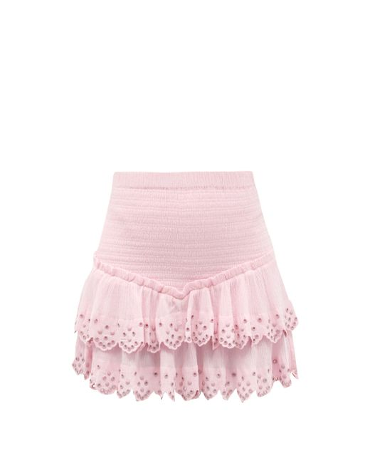 Isabel Marant ランドラ スタッズ ティアードミニスカート Pink