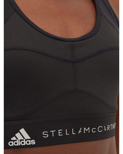 Adidas By Stella McCartney メッシュパネル スポーツブラ Black