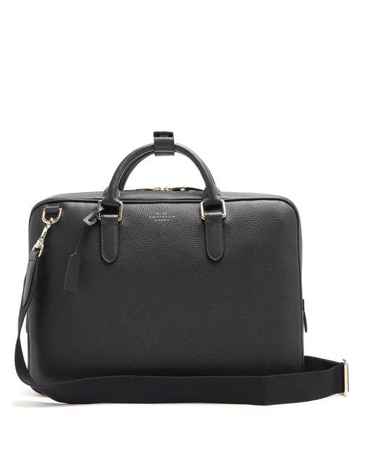Smythson - Black Burlington Leather Briefcase for Men - Lyst