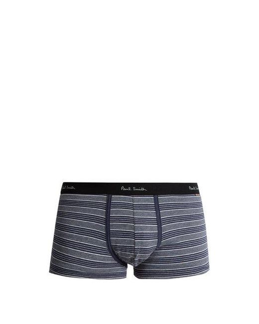 Paul Smith - Blue Striped Cotton-blend Socks for Men - Lyst