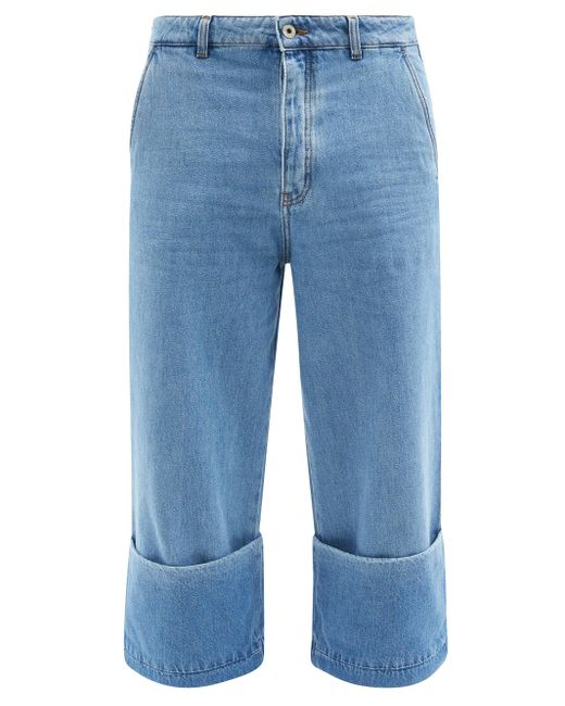メンズ Loewe フィッシャーマン ロールアップジーンズ Blue