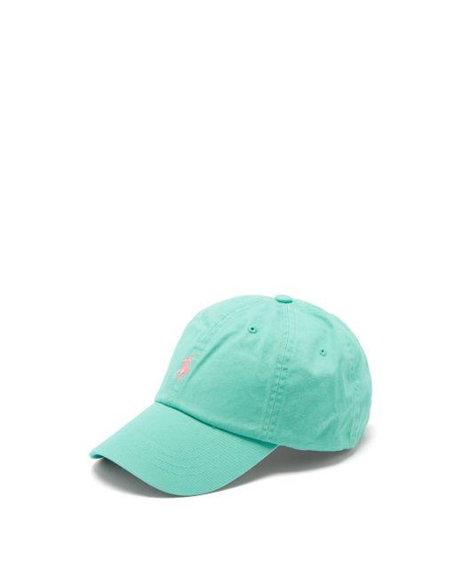 メンズ Polo Ralph Lauren コットンツイル ベースボールキャップ Green