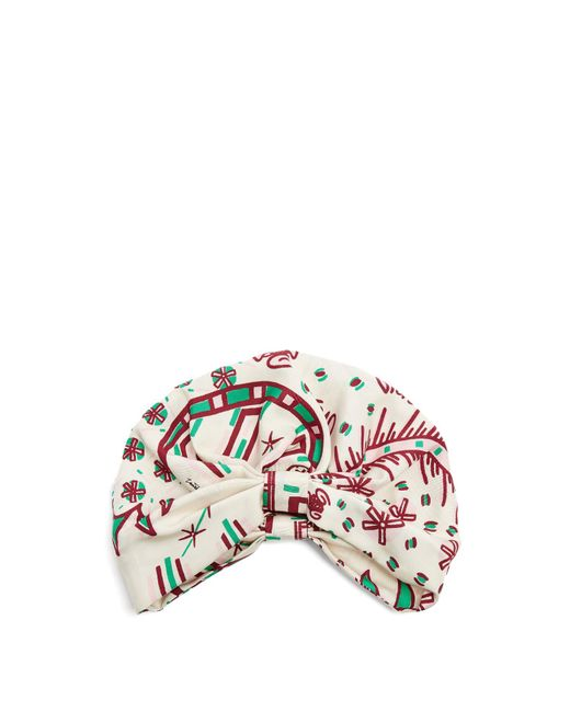 Valentino | Multicolor Abstract-print Silk-twill Turban | Lyst