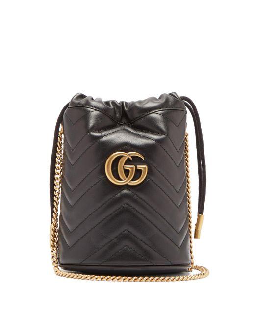 Gucci GGマーモント ミニ レザーバケットバッグ Multicolor