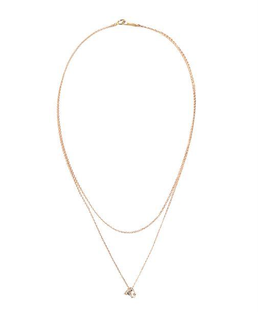 Mizuki ダイヤモンド&トパーズ 14kゴールドネックレス Multicolor