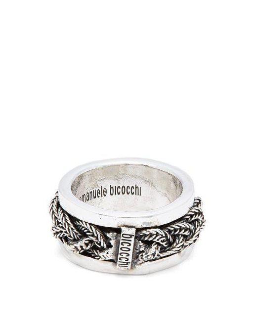 Emanuele Bicocchi - Metallic Onyx Sterling Silver Ring for Men - Lyst