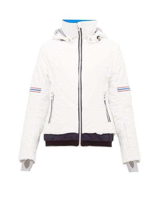 Toni Sailer White Antonia Striped Soft-shell Ski Jacket