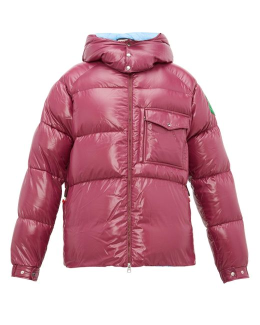 2 Moncler 1952 Purple Barthet Hooded Quilted Down Jacket for men