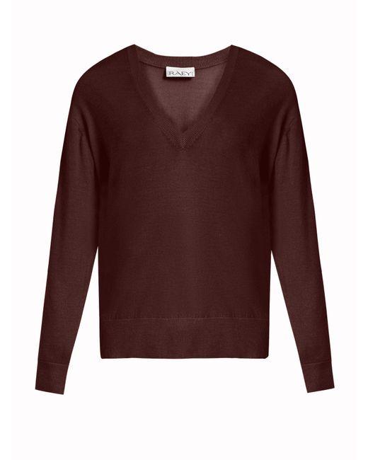Raey - Purple V-neck Fine-knit Cashmere Sweater - Lyst