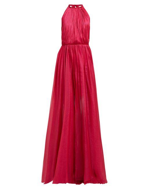 Robe dos-nu en mousseline de soie Eslem Maria Lucia Hohan en coloris Pink