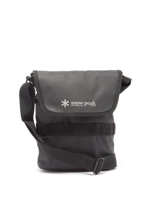 メンズ Snow Peak リップストップショルダーバッグ 2l Black