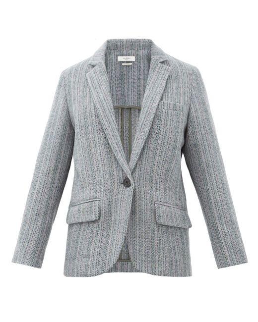 Étoile Isabel Marant チャーリー ウールシングルジャケット Gray
