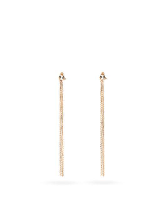 Mizuki ダイヤモンド&トパーズ 14kゴールドフリンジピアス Multicolor