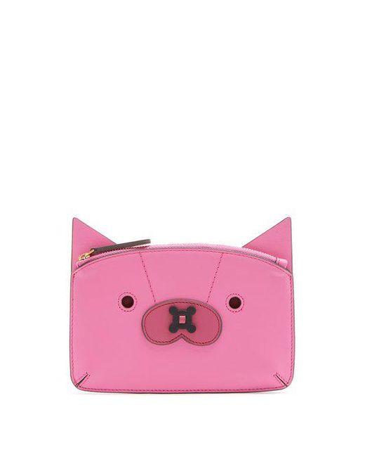 Fox leather coin purse Anya Hindmarch hOySD