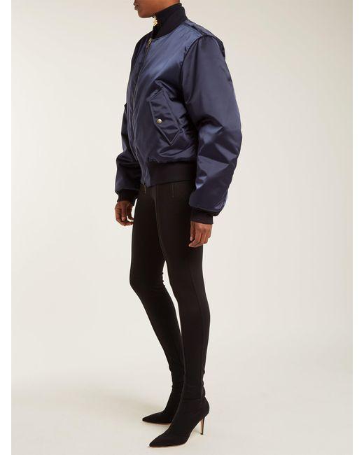2d486809fb476 Balenciaga Logo Jersey Leggings in Black - Save 3% - Lyst