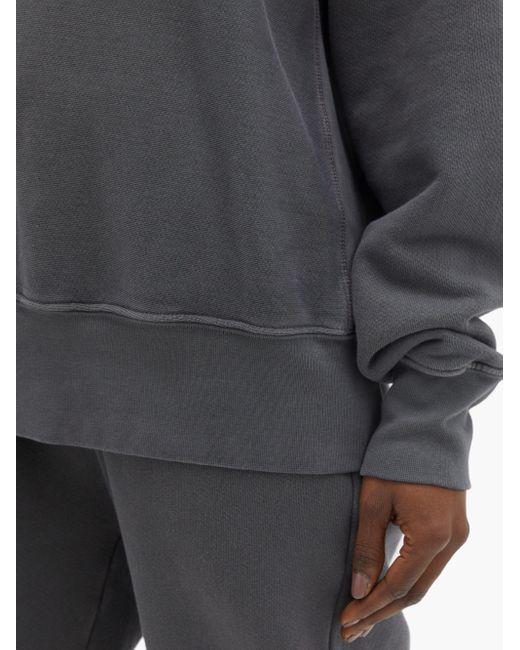 Les Tien オンブレ ブラッシュドバックコットンスウェットシャツ Gray