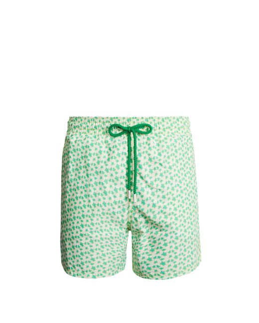 Vilebrequin - Green Moorea Micro Turtles Hawaï Print Swim Shorts for Men - Lyst
