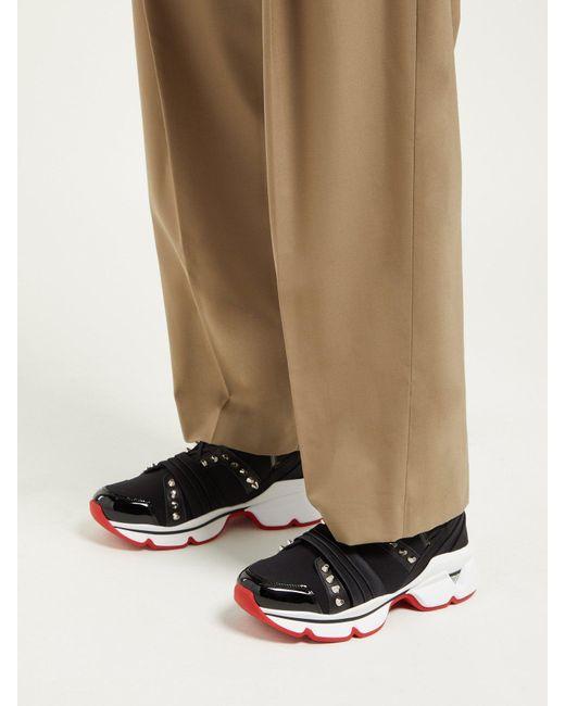 2442e8bb7e4 Women's Black 123 Run Studded Low Top Sneakers