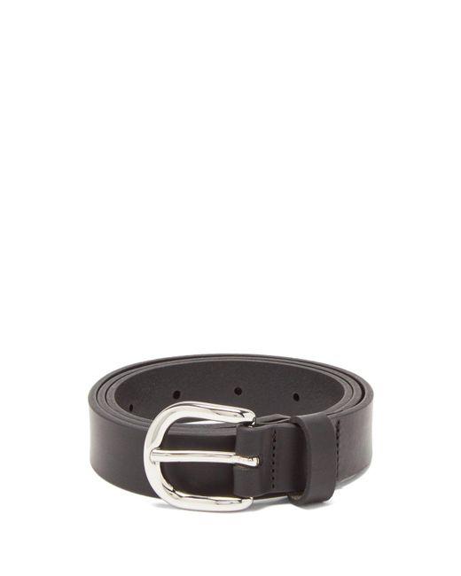 Isabel Marant - Black Zap Leather Belt - Lyst