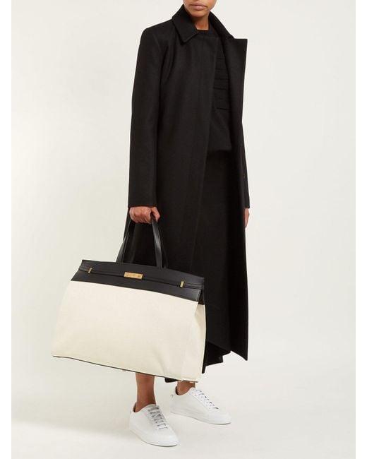 f49fe4b2084 ... Saint Laurent - Black Manhattan Large Canvas Tote Bag - Lyst ...