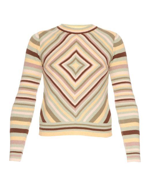 Valentino   Multicolor Native Couture 1975-print Crew-neck Sweater   Lyst