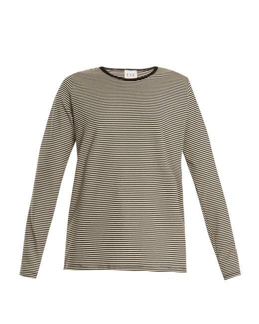 Eve Denim - Gray Alexa Striped Jersey T Shirt - Lyst