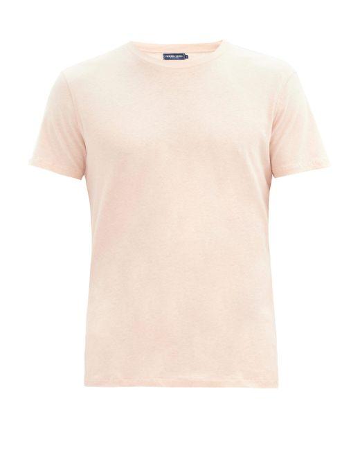 メンズ Frescobol Carioca コットンリネンtシャツ Multicolor