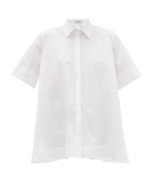 Ferragamo オーバーサイズ コットンポプリンシャツ Multicolor