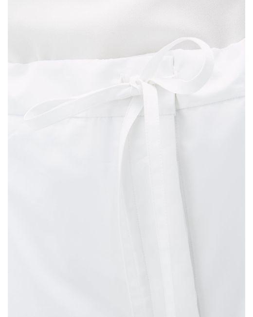 Jil Sander サテンパジャマパンツ White