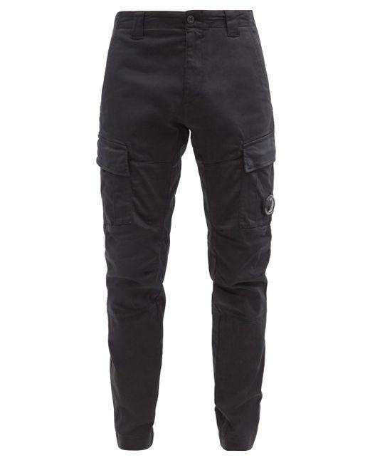 メンズ C P Company コットンサテンカーゴパンツ Black