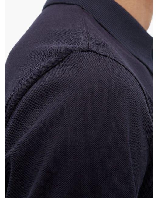 メンズ Moncler コットンピケ ポロシャツ Blue