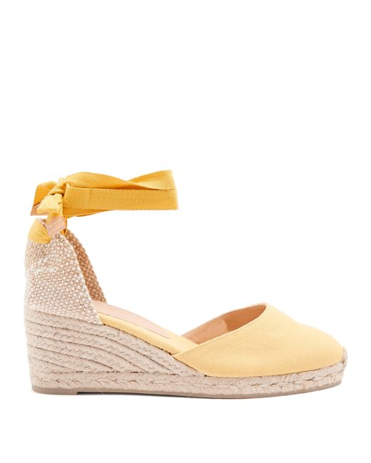 101e2746e937f Castaner Carina 80 Canvas   Jute Espadrille Wedges in Yellow - Save ...