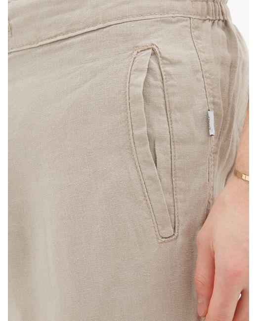 Onia Pantalon en lin Collin homme de coloris neutre