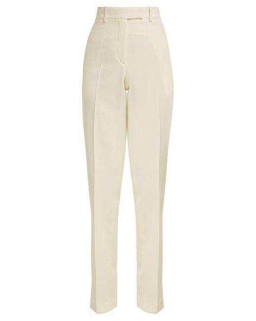 Calvin Klein Natural Side-striped Wool Trousers