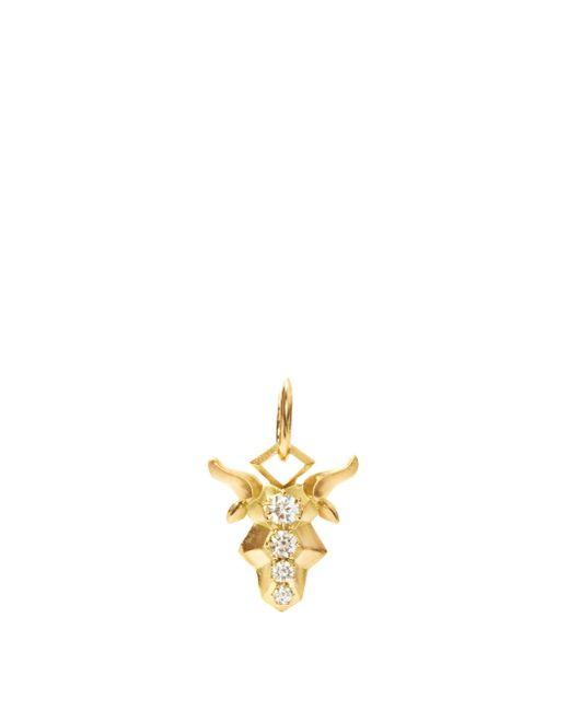 Jade Trau カプリコーン ダイヤモンド 18kゴールドチャーム Metallic